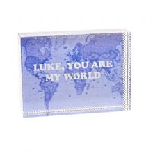 You Are My World Map Crystal - Personalised Map Gift For Weddings, Engagements, Anniversaries or Valentine's Day
